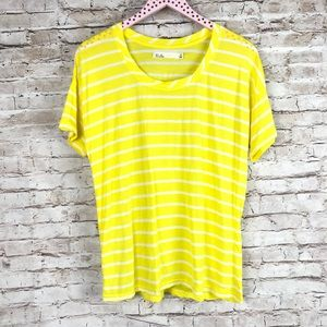 Hi-Low Striped Tee